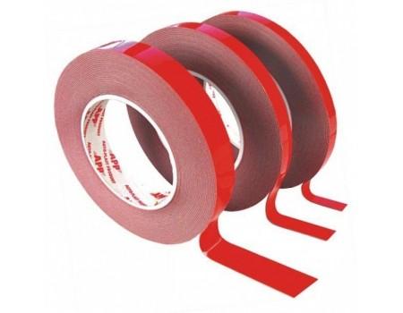 5 м, Скотч для зеркал двусторонний, 1х19 мм.Красный