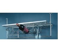Бар подвесной с потолочным креплением 744*300*370 мм, хром
