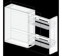 Механизм (корзина выдвижная) в модуль 200 мм 2-х ярусная, FGV боковое крепление с доводчиком квадро