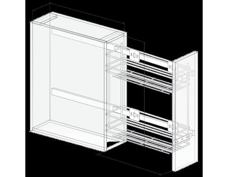 Механизм 200 2-х яр, б/к с довод.155х500х530 левый & напр.квадро