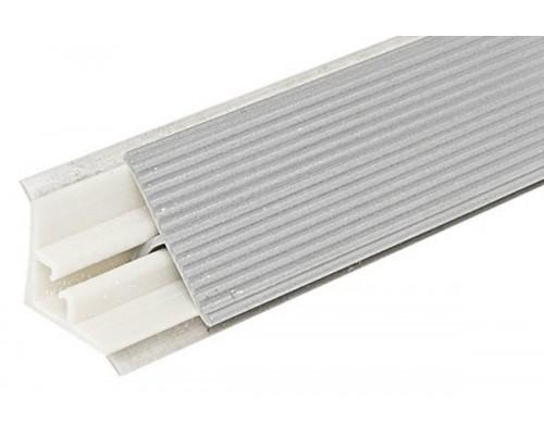 Плинтус для столешницы алюминиевый рифленый (ЭЛИТ-С), 28х3000 мм
