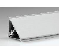 Плинтус для столешницы алюминиевый гладкий(П) ( 30 шт ), 28х3050 мм