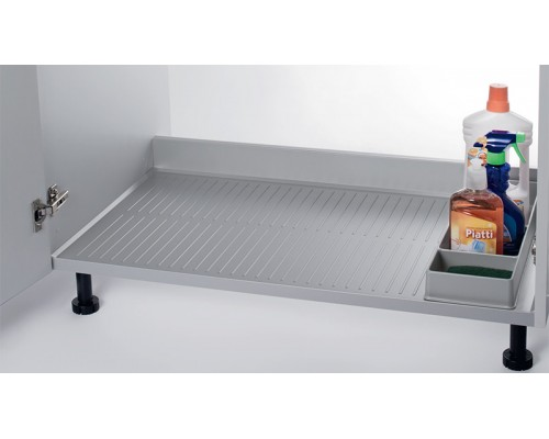 Поддон гигиенический на дно кухонной секции  1100 мм., алюминий