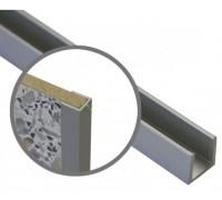 Профиль для кухонной стеновой панели 4 мм, торцевой, L-600 мм, алюминий