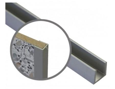Профиль 4 мм, торцевой, L-600 мм, алюминий