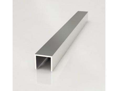 Профиль 6 мм, торцевой, L-600 мм, алюминий
