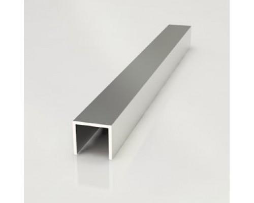 Профиль для кухонной стеновой панели 6 мм, торцевой, L-600 мм, алюминий
