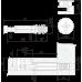 Стяжка B-fix ST01/48/6/Zn/01