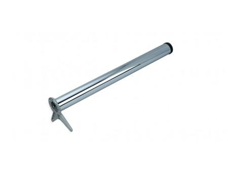 Нога 710х60, хром (боковое крепление)