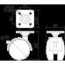 Мебельная опора N103BL/BL.3