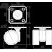 Мебельная опора N113BL/BL.3