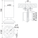 Мебельная опора N302CP/SC.1
