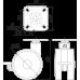 Мебельная опора N107BL/RD.5
