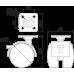 Мебельная опора N101BL/BL.3