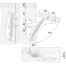 Антресольная петля MK01