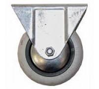 Опора D-80 мм, колесная резиновая, не поворотная Н=100