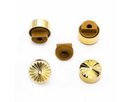 Зеркалодержатель  рифлённое золото, d=17мм
