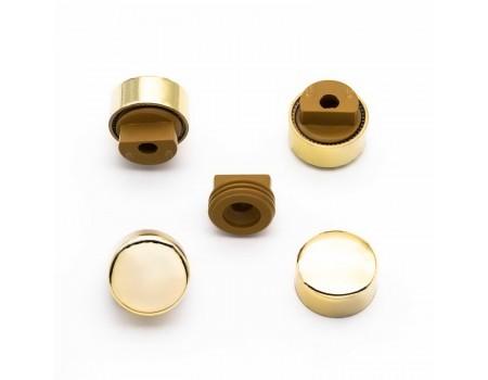 Зеркалодержатель гладкое золото, d=17мм