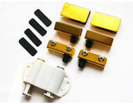 Стеклодержатель с двойным магнитом, золото