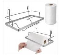Держатель для бумажного полотенца на рейлинг 260*155*245мм, хром