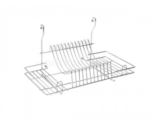 Сушилка навесная для посуды на рейлинг 445х272х255 мм, хром