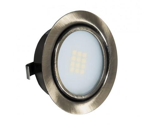 LED (врезной) 220В, 4Вт, 3000К, Античная бронза