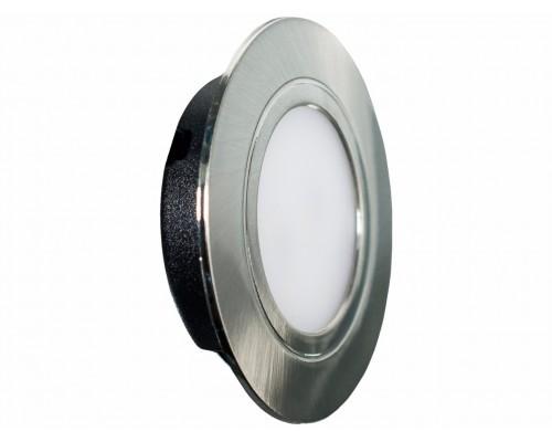 LED (врезной) 220В, 4Вт, 3000К, Хром 330Лм,каб.0,2 м.