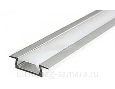 Профиль ал., для светод. лент, 22*6*2000мм (2 Заглушки+2 клипсы (КМС 2206)