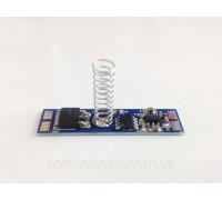 Сенсорный диммер, с памятью12-24V, с пруж.10 мм на плате 43х10 (для устновки в алюминиевый профиль)