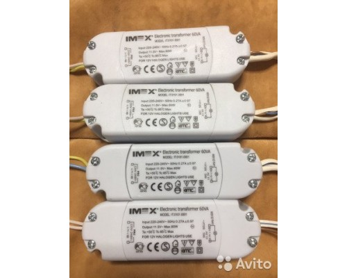 Трансформатор для галогеновых лампочек  60 W