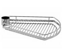 Полка-трапеция для трубы 50 мм., хром РTJ016-28(AXO16-28)