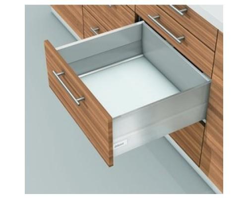 Ящик intivo с высоким фасадом с метал. боковинами BOXCAP. Выберите цвет и глубину.