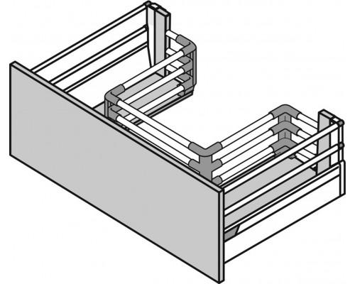 Ящик Под мойку с двойным релингом 450мм