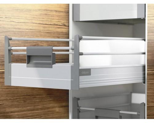 Внутренний ящик TANDEMBOX plus M + 2 релинга (высота D) от 270 до 550мм