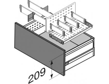 Ящик с лотком для бутылок с боков.BOXSIDE (выс.D) 500мм