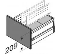 Продольный разделитель Intivo/antaro 100мм серый