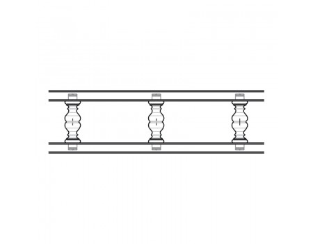 Балюстрада прямая, Некрашенная, ( h = 70 мм )