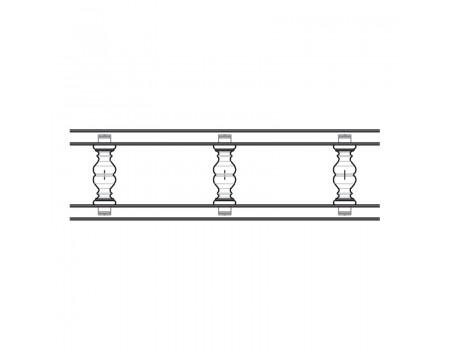 Балюстрада прямая, Дуб молочный, ( h = 55 мм )