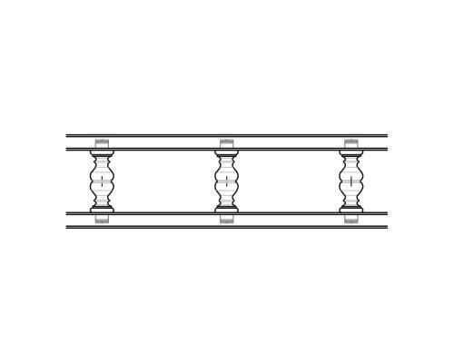Балюстрада прямая, Некрашенная, ( h = 55 мм )