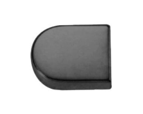 Декоративная  крышка для стекольной петли H16BL овал чёрная