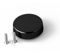 Декоративная  крышка для стекольной петли H19BL круглая чёрная