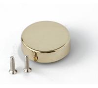 Декоративная  крышка для стекольной петли H19GP круглая золото