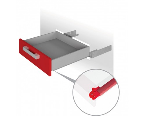 Направляющие механизмы скрытого монтажа DB4461Zn/270 полного с доводчиком