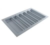 Вкладка под столовые приборы  для выдвижного ящика PC01/GR/730x480 пластик