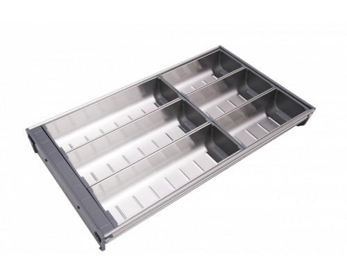 Вкладка под столовые приборы  из нержавеющей стали PC04/GR/280x472