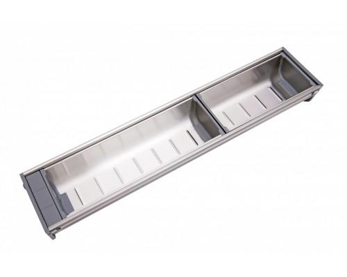 Вкладка под столовые приборы из нержавеющей стали PC05/GR/103x472