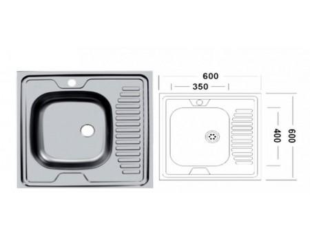 Мойка UKINOX накладная серии Стандарт ST*800.604 модель STD800.600 -5C 0RS
